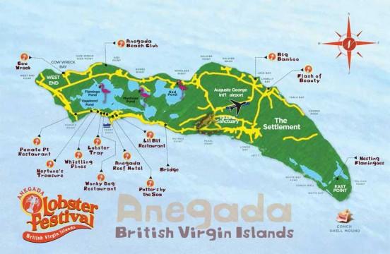 Anegada Map