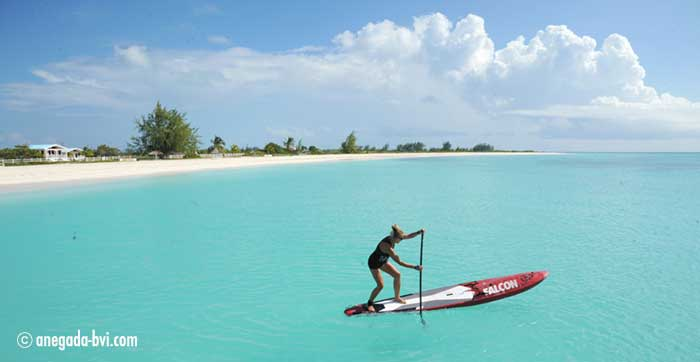 paddleboarding on anegada